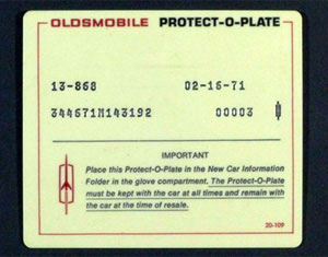 Oldsmobile-Protect-O-Plate