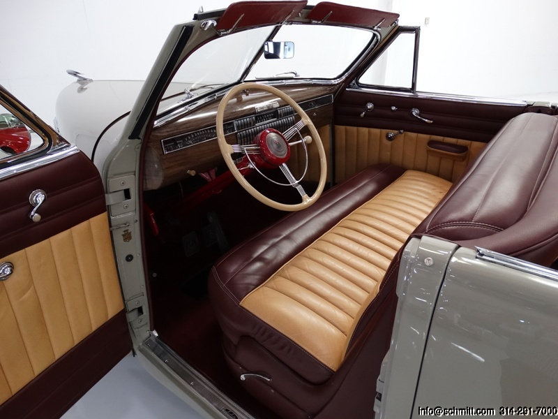 Leather interior on a 1940 Cadillac LaSalle Convertible