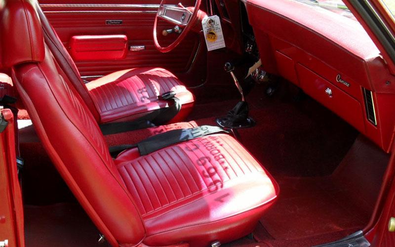 Rare 1969 Camaro Z/28 red interior