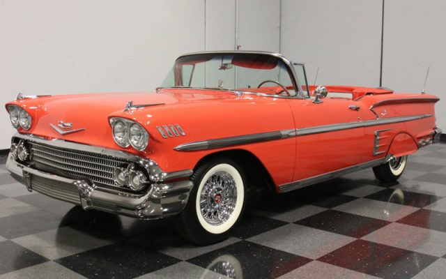 Rio Red 1958 Chevrolet Impala Convertible