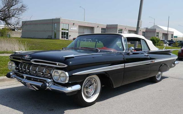 Tuxedo Black 1959 Chevrolet Impala Convertible