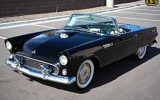 Black 1955 Ford Thunderbird