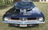 1972 Plymouth Cuda muscle car
