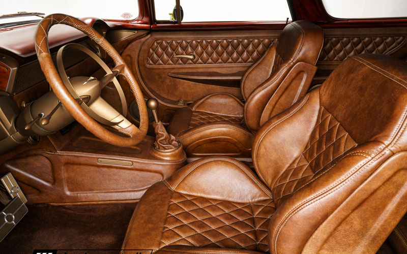 Gone Mad '55 Chevy Nomad Relicate leatherite interior