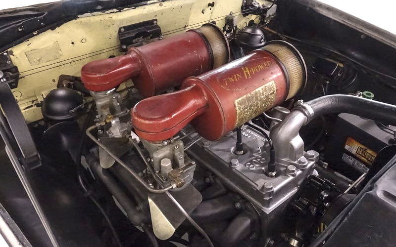 Steve McQueen's 1950 Hudson Convertible with Twin H-Power carbs