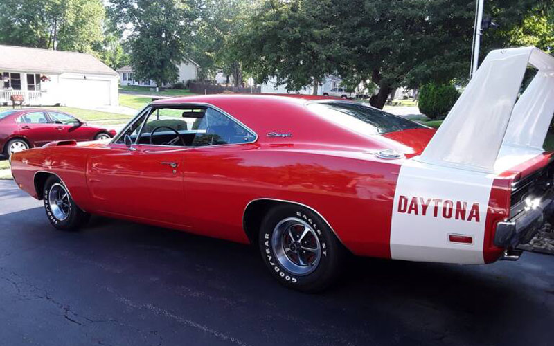 B4 Bright Red 1969 Dodge Daytona Charger