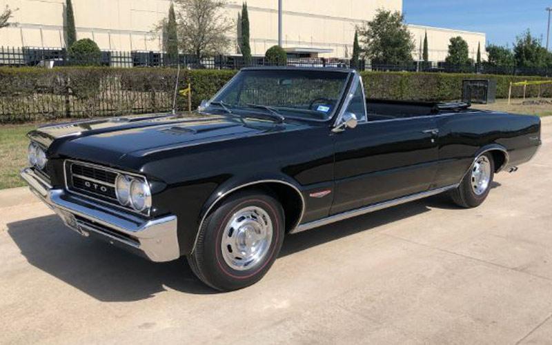 black 1964 Pontiac GTO Convertible