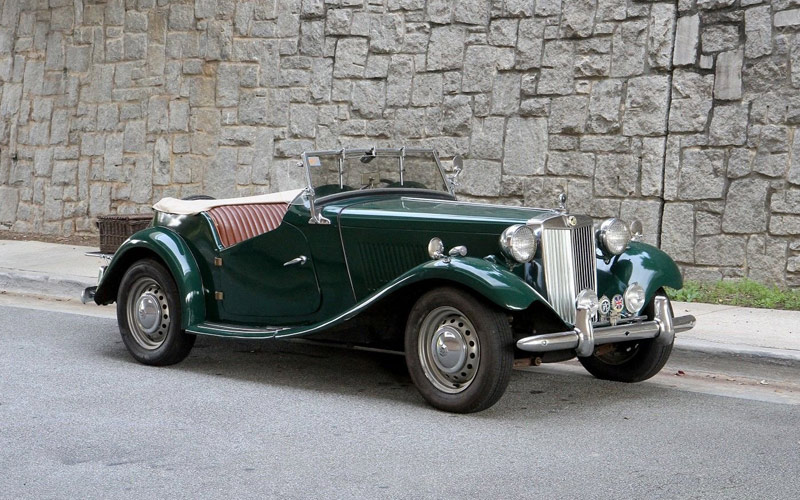 two-seater MG roadster