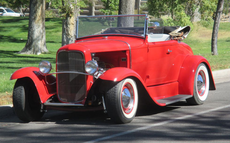 Old School Hot Rod 1930 Ford Model A Roadster